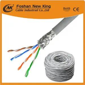 Familia Cable LAN de alta calidad Cable de red FTP CAT6 0.58mm Bc Chaqueta gris