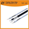 Cable de video Cable RG6 CATV / CCTV 1.02 mm Cu, 96 * 0.12 mmal-Mg, 6.8 mm PVC negro